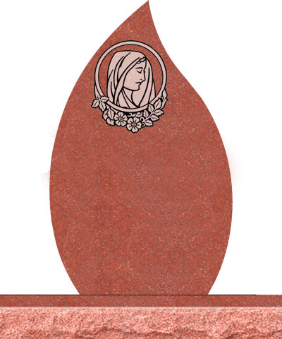 Companion Tear Drop Headstones - Mary with Rounded Panel