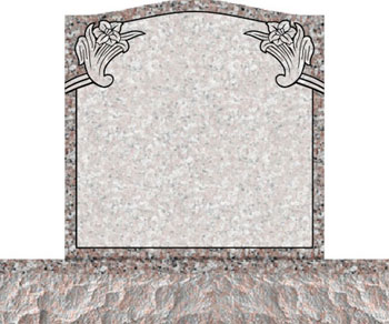 Individual Traditional Headstone - Wild Lily