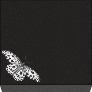 Small Flat Grave Marker - Butterfly