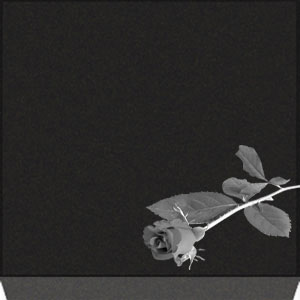 Small Flat Grave Marker - Rose
