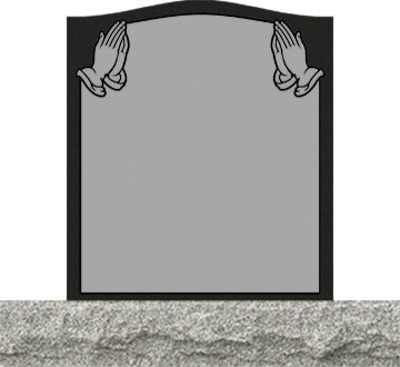 Small Upright Headstones - Praying Hands