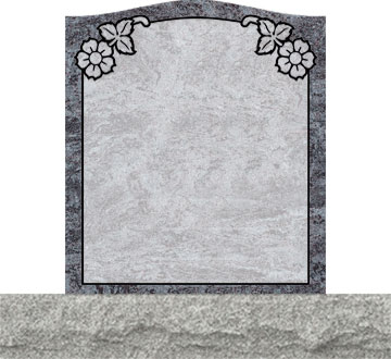 Small Upright Headstones - Dogwood Top Side Panel
