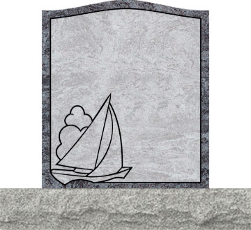 Small Upright Headstones - Sailing Boat
