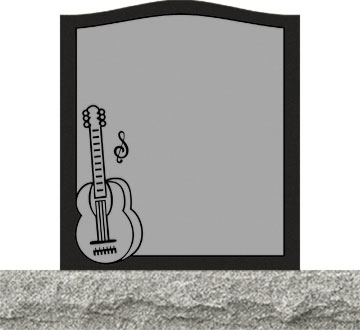 Small Upright Headstones - Acoustic guitar