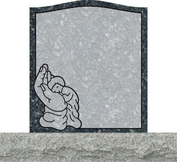 Small Upright Headstones - Baby Sleeping in Hand